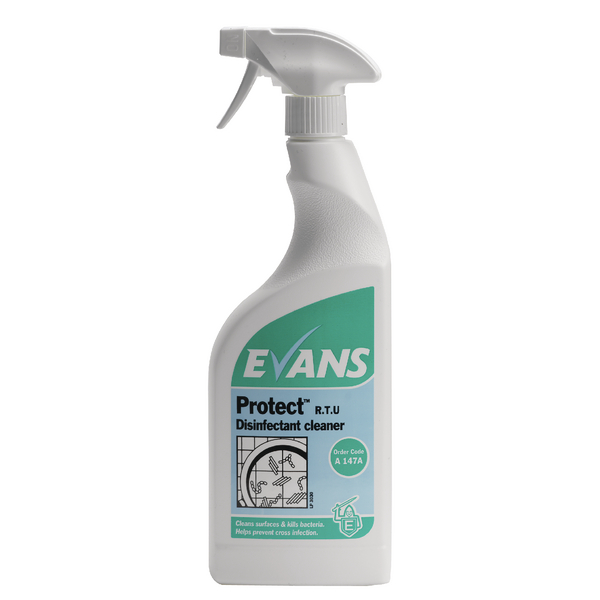Evans Protect Ready-to-Use Disinfectant Cleaner 750ml (Pack of 6) A147AEV