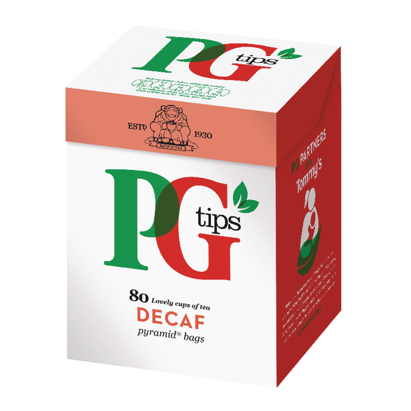 PG Tips Pyramid Tea Bag Decaffeinated (80 Pack) 28618501