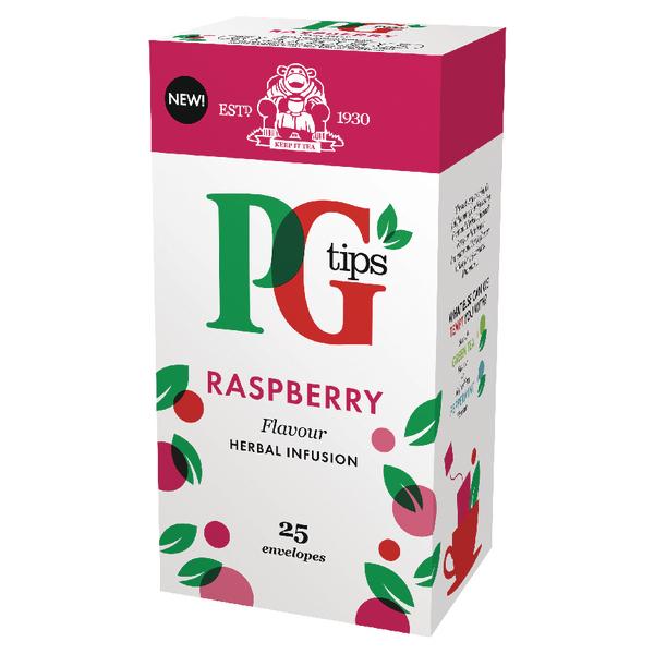PG Tips Raspberry Envelope Tea Bags (Pack of 25) 49228801