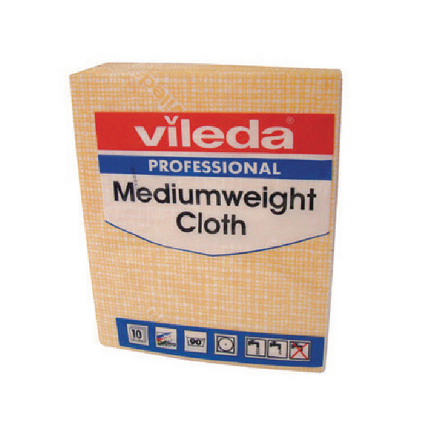 Vileda Yellow Medium Weight Cloth (Pack of 10) 106402
