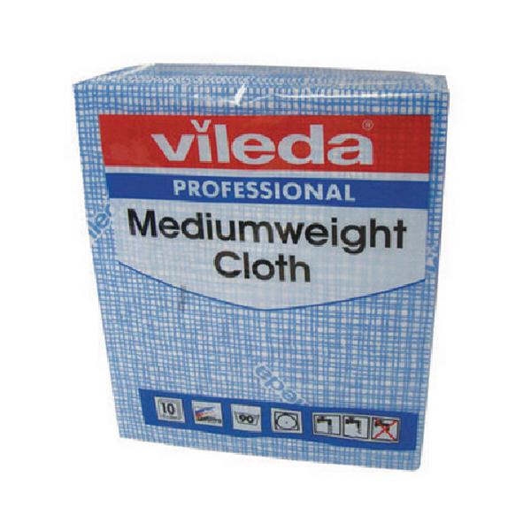Vileda Blue Medium Weight Cloth (Pack of 10) 106399