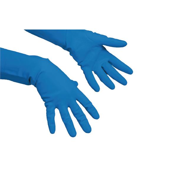Vileda Multi-Purpose Medium Gloves (Pack of 10) Blue 100157