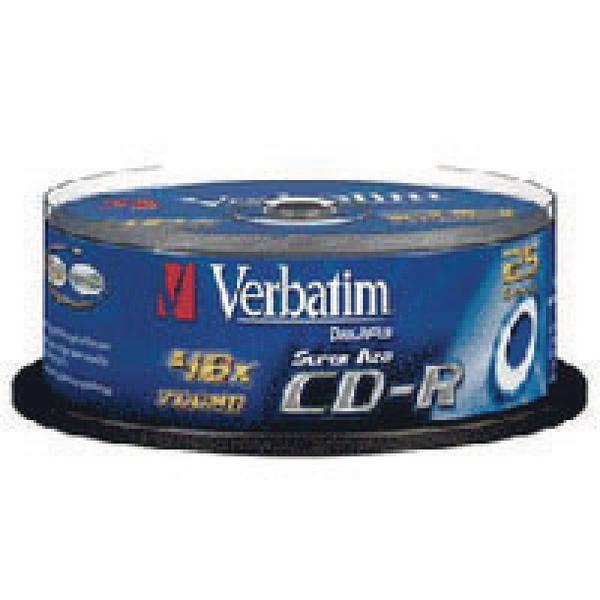 Image for Verbatim CD-R 700MB/80minutes (Pack of 25) 43352