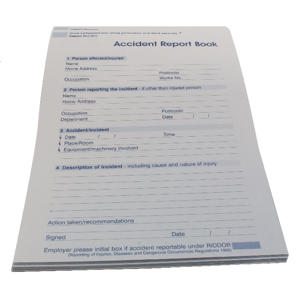 Wallace Cameron Accident Report Book 5401015 TRAILBLAZER TESTING