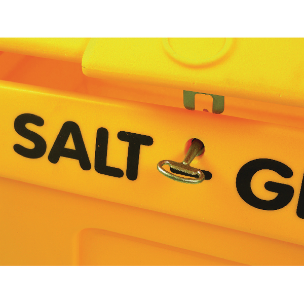 Yellow Lockable Salt and Grit Bin Yellow 200 Litre 317063