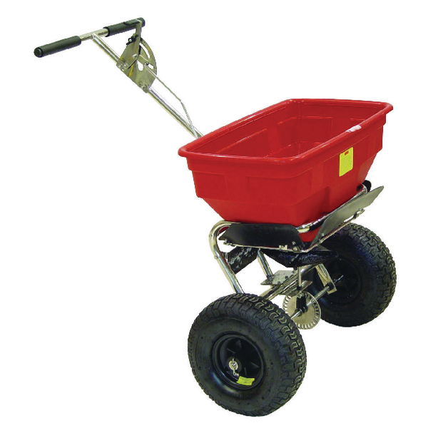 Salt Spreader 57kg Rain Cover Red 380946