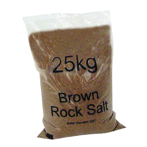 Winter Dry Brown Rock Salt 25kg (40 Pack) 383578