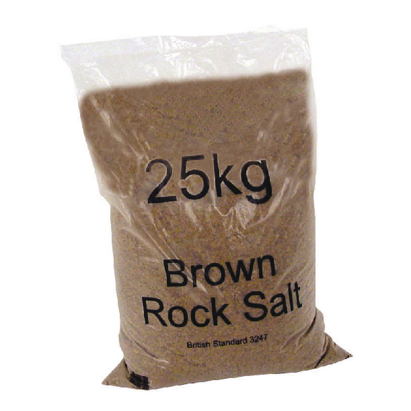 Dry Brown Rock Salt 25kg Bag (20 Pack) 384072