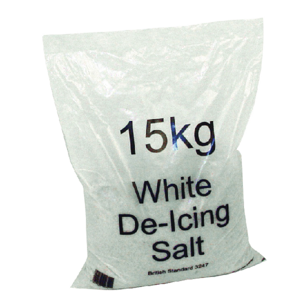White Winter 15kg Bag De-Icing Salt (Pack of 30) 379758