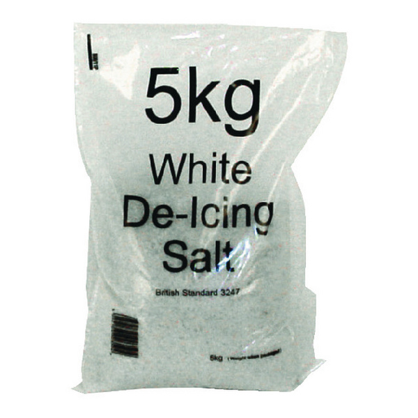 White Winter 5kg Bag De-Icing Salt (Pack of 15) 188150