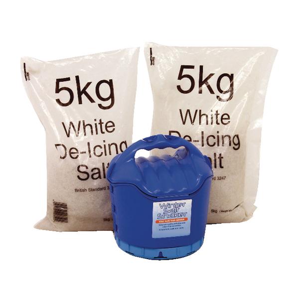 Image for Handheld Salt Shaker and 2xBags of White Salt 5kg 389106