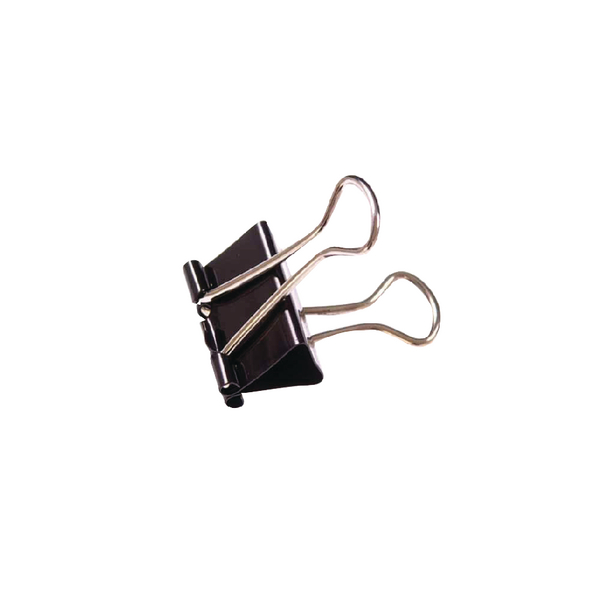 Black 19mm Foldback Clip (Pack of 100) 22481