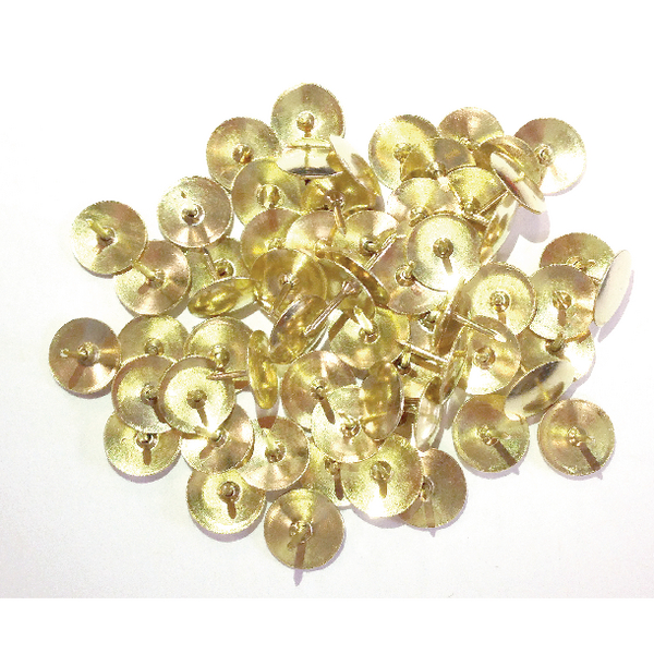 Brass 12.5mm Drawing Pins Pack of 1000 34251