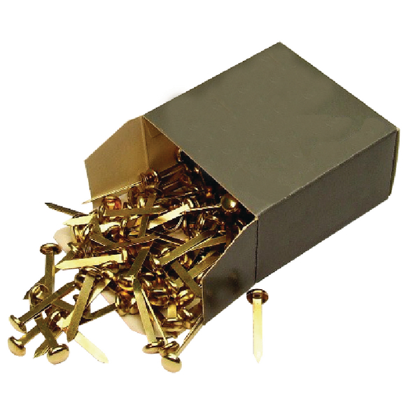 20mm Brass Pointed Paper Fastener (Pack of 200) WS36630