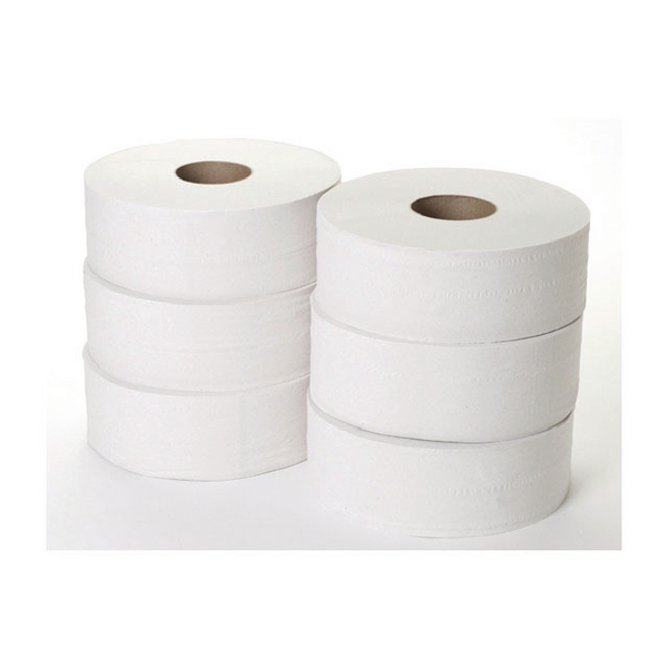 2 Ply Jumbo Toilet Roll 300 Metres (Pack of 6) JWH330