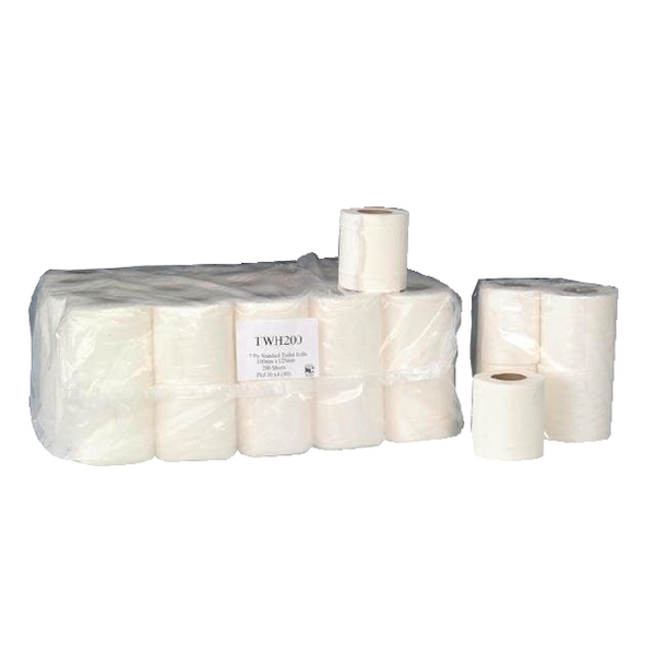 Image for 2-Ply White 200 Sheet Toilet Roll (Pack of 36) TWH200T