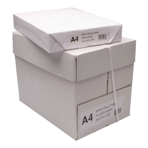 White Copier A4 Paper (2500 Pack) WX01087