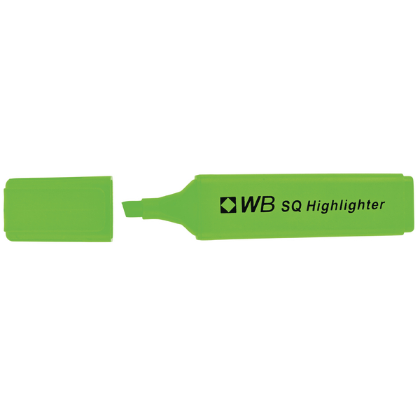 Whitebox Green Hi-Glo Highlighter (Pack of 10) 844004