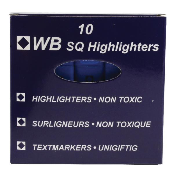 Blue Hi-Glo Highlighter Pens (10 Pack) 844003