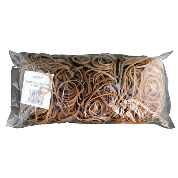 Assorted Size Rubber Bands (Pack of 454g) 3243494