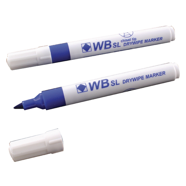 Blue Whiteboard Markers Chisel Tip (10 Pack) WX26036