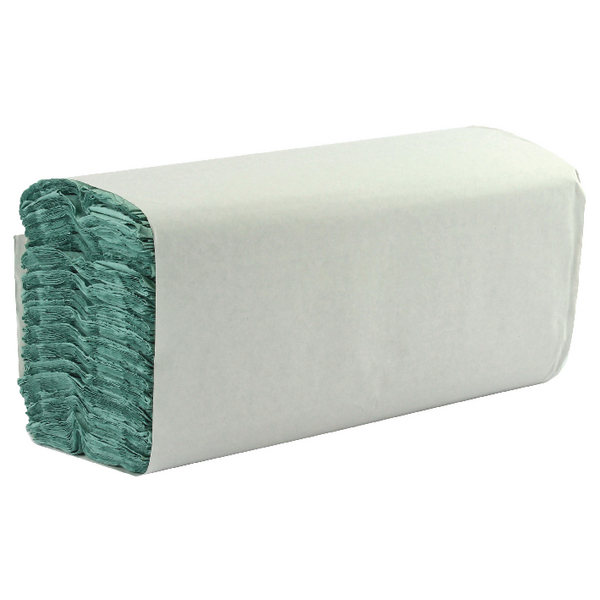 Image for 1 Ply Green C-Fold Hand Towels (Pack of 2850)