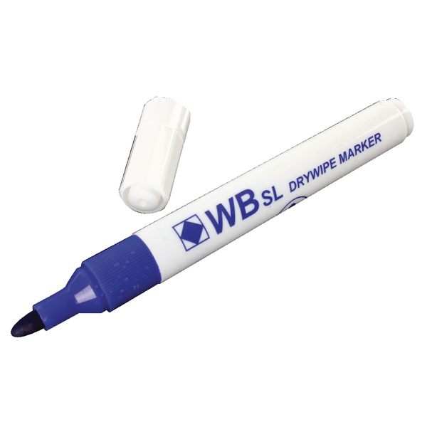 Blue Whiteboard Marker Pens Bullet Tip (Pack of 10) WB15 804001