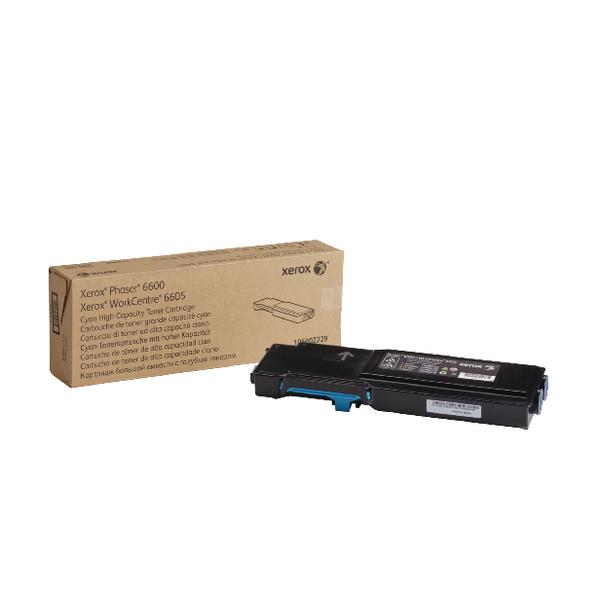 Xerox Cyan Toner Cartridge High Capacity 106R02229