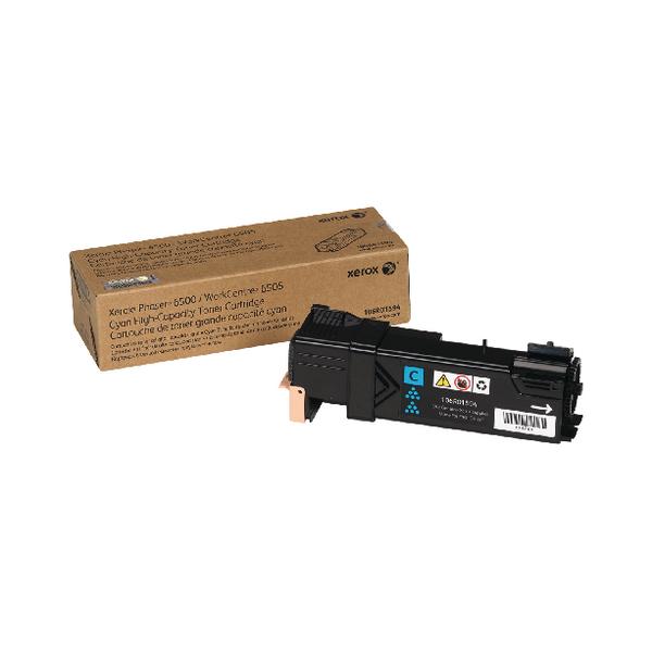 Xerox Phaser 6500 Cyan High Yield Toner Cartridge 106R01594