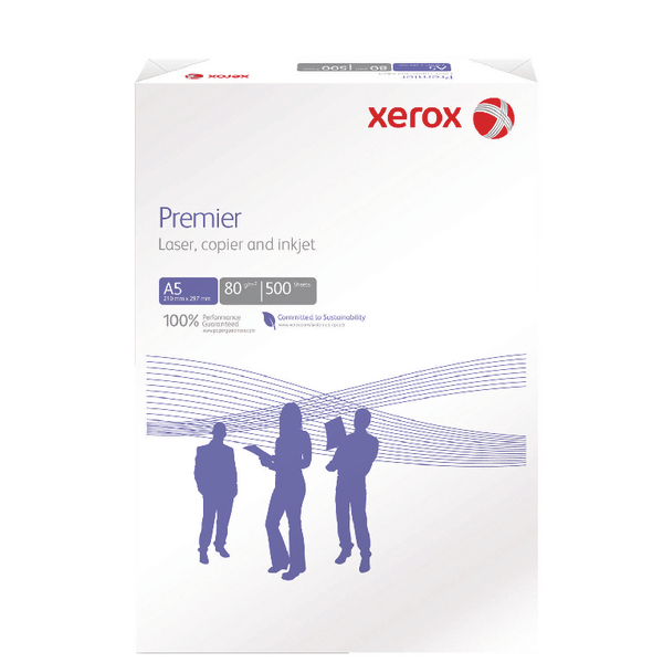 Xerox Premier Paper A5 80gsm White  (Pack of 500)
