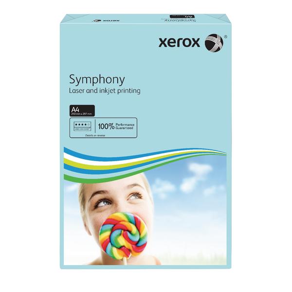 Xerox Symphony Paper A4 80gsm Medium Tints Mid Blue Ream 003R93968
